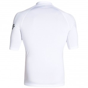 Quiksilver Wetsuits All Time Rash Guard - White