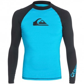 Quiksilver Wetsuits All Time Long Sleeve Rash Guard - Blue/Black