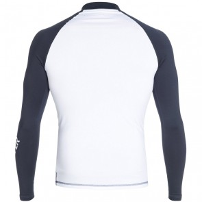 Quiksilver Wetsuits All Time Long Sleeve Rash Guard - Navy/White