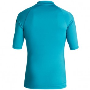 Quiksilver Wetsuits Youth All Time Short Sleeve Rash Guard - Blue Danube