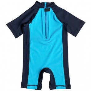 Quiksilver Infant Bubble Rash Spring Suit - Blue Danube/Navy Blazer