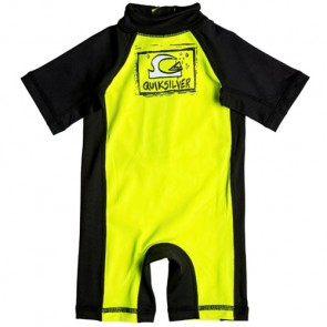 Quiksilver Wetsuits Infant Bubble Rash Spring Suit - Safety Yellow