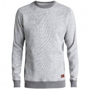 Quiksilver Keller Polar Fleece Sweatshirt - Light Grey Heather