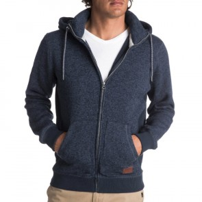 Quiksilver Keller Zip-Up Hoodie - Navy Blazer Heather