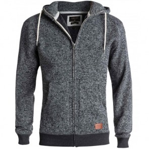 Quiksilver Keller Zip-Up Hoodie - Dark Grey Heather