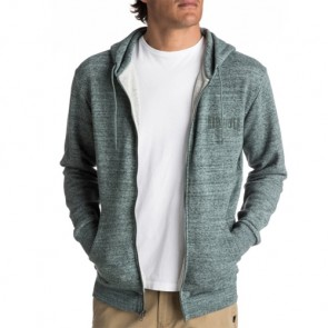 Quiksilver Jungle Forest Zip-Up Hoodie - Silver Pine Heather