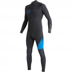 Quiksilver Highline 3/2 Zipperless Wetsuit - Black/Cyan