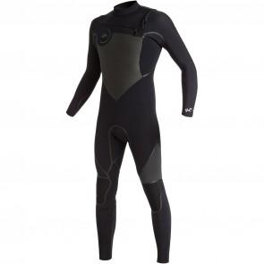 Quiksilver Syncro Plus 5/4/3 Chest Zip Wetsuit - Black