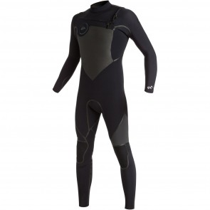 Quiksilver Syncro Plus 4/3 Chest Zip Wetsuit - Black