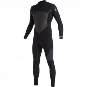 Quiksilver Syncro Plus 4/3 Back Zip Wetsuit - Black