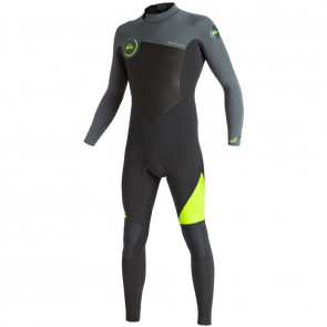 Quiksilver Syncro 4/3 Back Zip Wetsuit - Safety Yellow