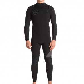 Quiksilver Syncro 4/3 Chest Zip Wetsuit - Black/Jet Black