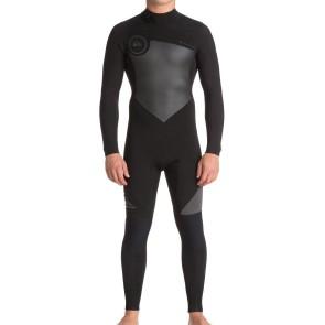 Quiksilver Syncro 5/4/3 Back Zip Wetsuit - Black/Jet Black