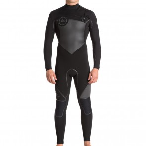 Quiksilver Syncro Plus 3/2 Chest Zip Wetsuit - Black/Jet Black