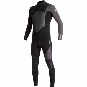 Quiksilver Highline Plus 4/3 Chest Zip Wetsuit - Black/Jet Black