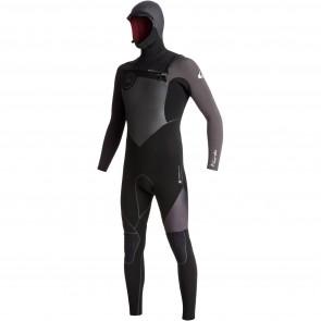 Quiksilver Highline Plus 6/5/4 Hooded Chest Zip Wetsuit - Black/Jet Black