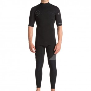 Quiksilver Syncro 2mm Short Sleeve Back Zip Wetsuit - Black