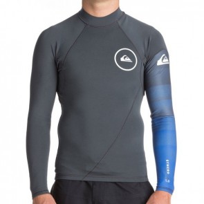 Quiksilver Wetsuits Syncro New Wave 1mm Jacket - Gunmetal/HV Royal/White