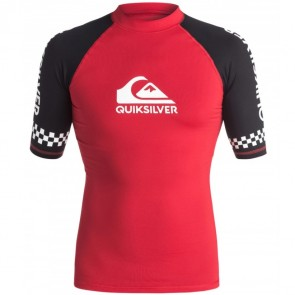 Quiksilver Wetsuits On Tour Short Sleeve Rash Guard - Athletic Red