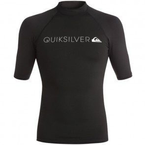 Quiksilver Wetsuits Heater Short Sleeve Rash Guard - Black