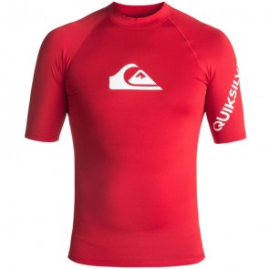 Quiksilver Wetsuits All Time Short Sleeve Rash Guard - Quik Red