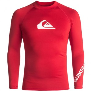 Quiksilver Wetsuits All Time Long Sleeve Rash Guard - Quik Red