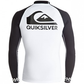 Quiksilver Wetsuits On Tour Long Sleeve Rash Guard - White/Black