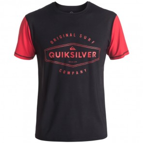 Quiksilver Wetsuits Last Call Short Sleeve Rash Guard - Black