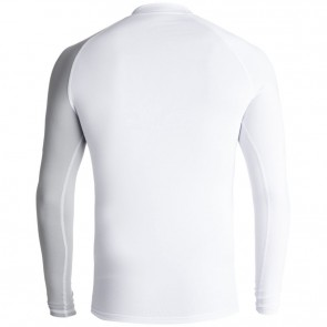 Quiksilver Wetsuits Active Long Sleeve Rash Guard - White Sleet