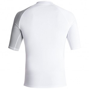 Quiksilver Wetsuits Active Short Sleeve Rash Guard - White Sleet