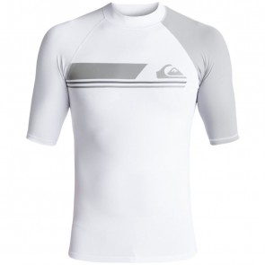 Quiksilver Wetsuits Active Rash Guard - White Sleet