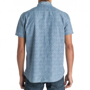 Quiksilver Spectrum Rips Short Sleeve Shirt - Indigo