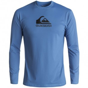 Quiksilver Wetsuits Solid Streak Long Sleeve Rash Guard - Electric Blue