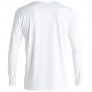 Quiksilver Wetsuits Solid Streak Long Sleeve Rash Guard - White