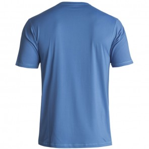 Quiksilver Solid Streak Short Sleeve Rash Guard - Electric Blue