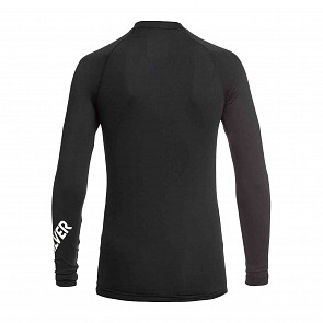 Quiksilver All Time Long Sleeve Rash Guard - Black