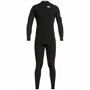 Quiksilver Syncro 3/2 Chest Zip Wetsuit - Black/White