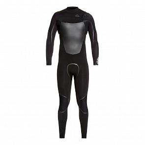 Quiksilver Syncro Plus 3/2 Chest Zip Wetsuit - Black