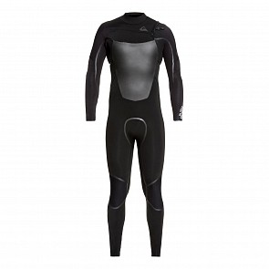 Quiksilver Syncro Plus 4/3 Chest Zip Wetsuit - Black