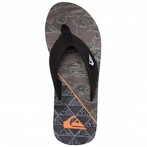 Quiksilver Youth Molokai Layback Sandals - Black/Blue/Grey