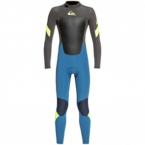 Quiksilver Youth Syncro 4/3 Back Zip Wetsuit -Marina/Jet Black