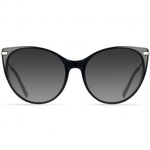 Raen Women's Birch Sunglasses - Black/Silver/Smoke Gradient