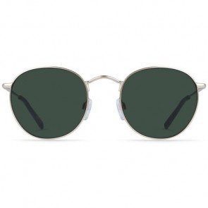 Raen Benson Polarized Sunglasses - Japanese Gold/Brindle Tortoise/Green