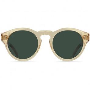 Raen Parkhurst Polarized Sunglasses - Champagne Crystal/Green