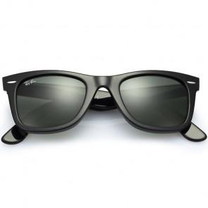 Ray-Ban Original Wayfarer Classic Sunglasses - Black/Crystal Green