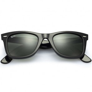 478a4451ff ... Ray-Ban Original Wayfarer Classic Polarized Sunglasses - Black Crystal  Green