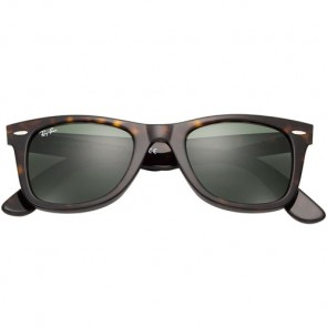 Ray-Ban Original Wayfarer Classic Polarized Sunglasses - Tortoise/Crystal Green