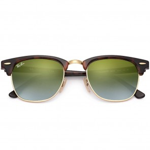 Ray-Ban Clubmaster Sunglasses - Tortoise/Green Gradient Flash