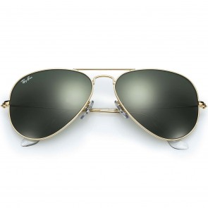 Ray-Ban Small Aviator Sunglasses - Gold/Crystal Green