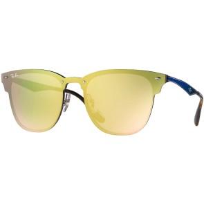 Ray-Ban Blaze Clubmaster Sunglasses - Blue/Dark Orange Mirro